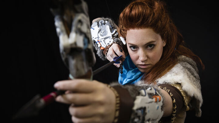"""Mink the Satyr"" as Aloy from Horizon: Zero Dawn"