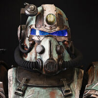 Cosplayer Well Rusted Workshop displays his T-51 Power Armor from Fallout.