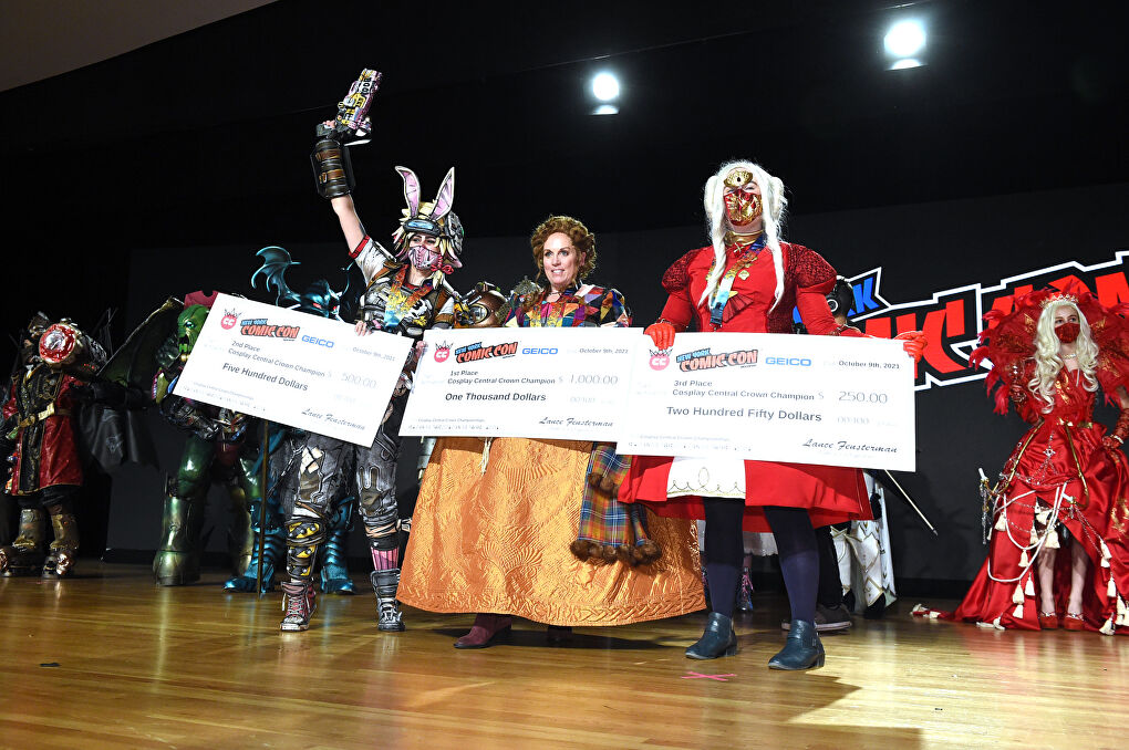 Winner of the Crown Championships of Cosplay at New York Comic Con 2021 (Taken by Getty Images for ReedPop)