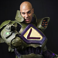 Jamal Johns as Lex Luthor cosplay