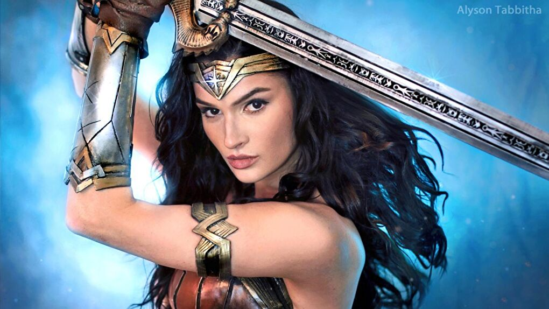 Alyson Tabbitha as Wonder Woman (Self-Portrait)