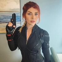 Photo Courtesy Captain Kaycee Cosplay & Black Widow Photo Courtesy Marvel Studios