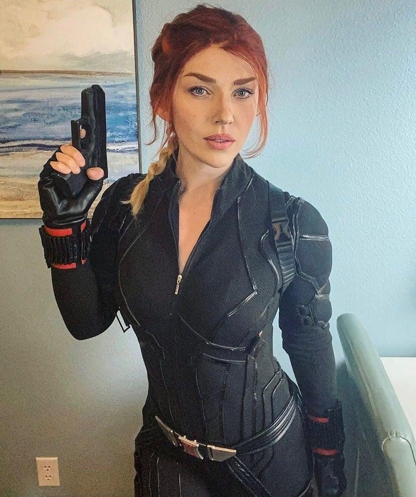 Hela and Black Widow Cosplay Captain Kaycee