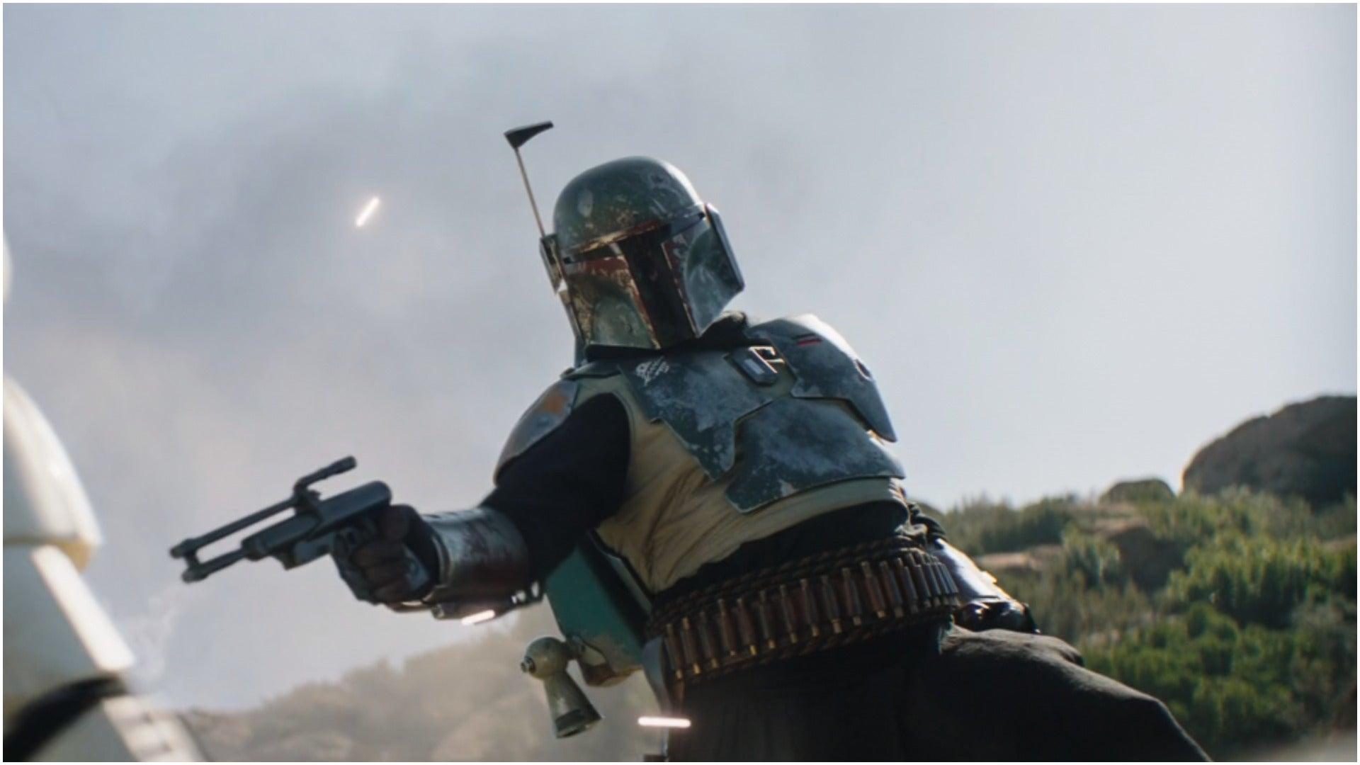 Screenshots taken from Episode 14 of The Mandalorian - Boba Fett in new armor
