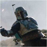 Screenshots taken from Episode 14 of The Mandalorian - Boba Fett in new armor