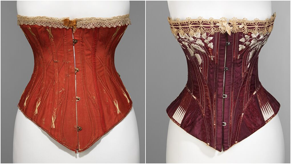 Two Victorian Era Corsets (Courtesy Met Museum)
