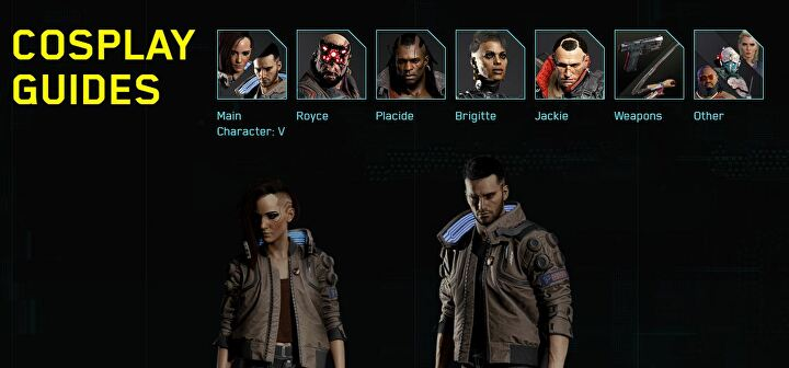 Cyberpunk 2077's cosplay guide on their website.