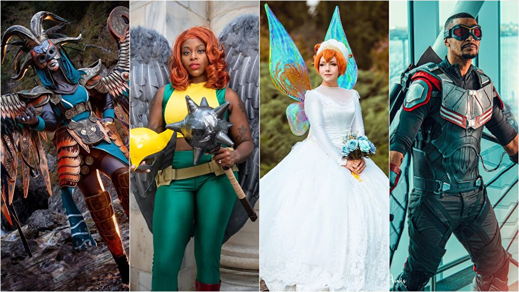 Cosplayers (from left to right): Raahega, DeconstructingCosplay, Misacosplay, and martyokcosplay