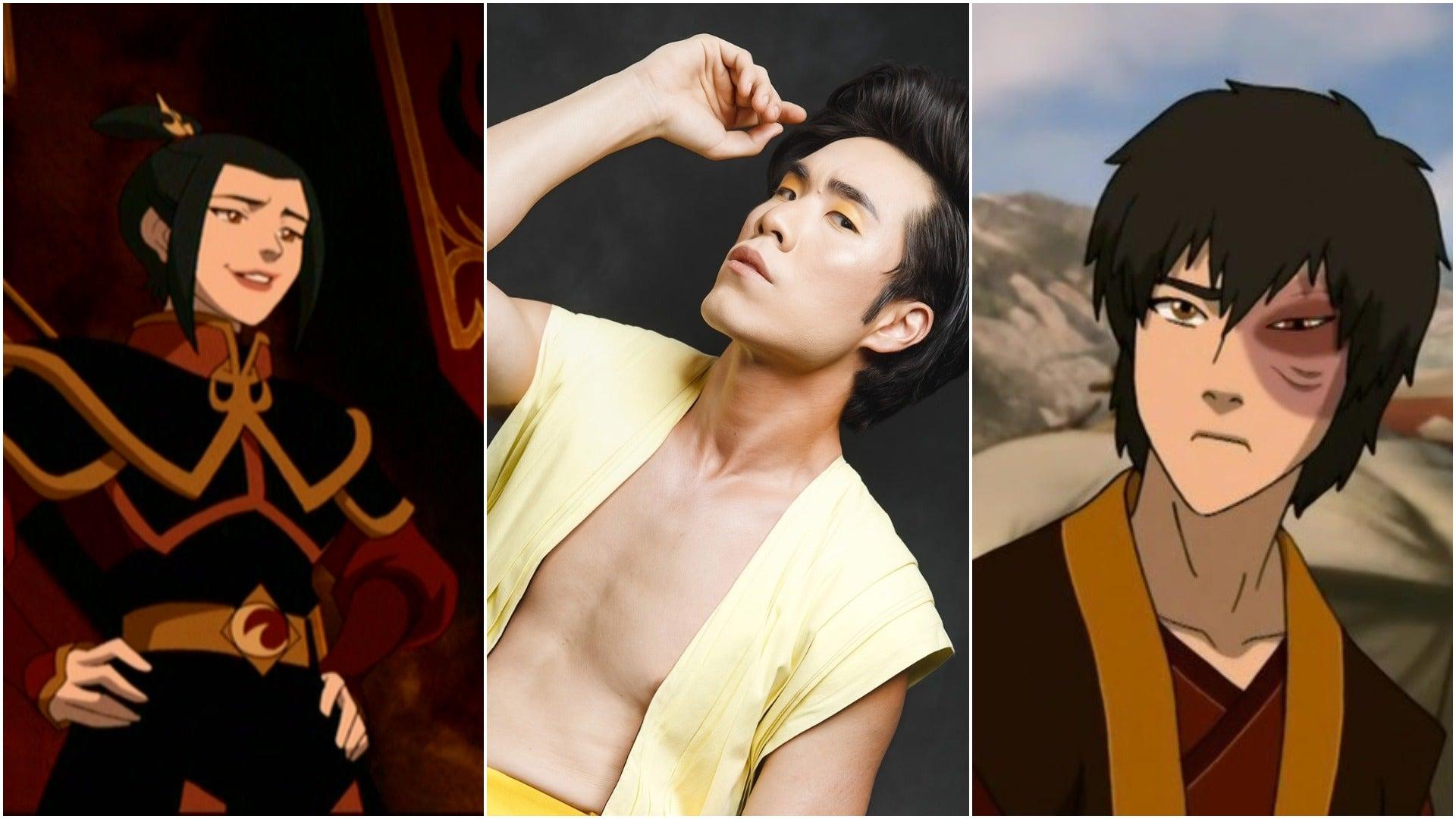 Eugene Lee Yang with Azula and Zuko