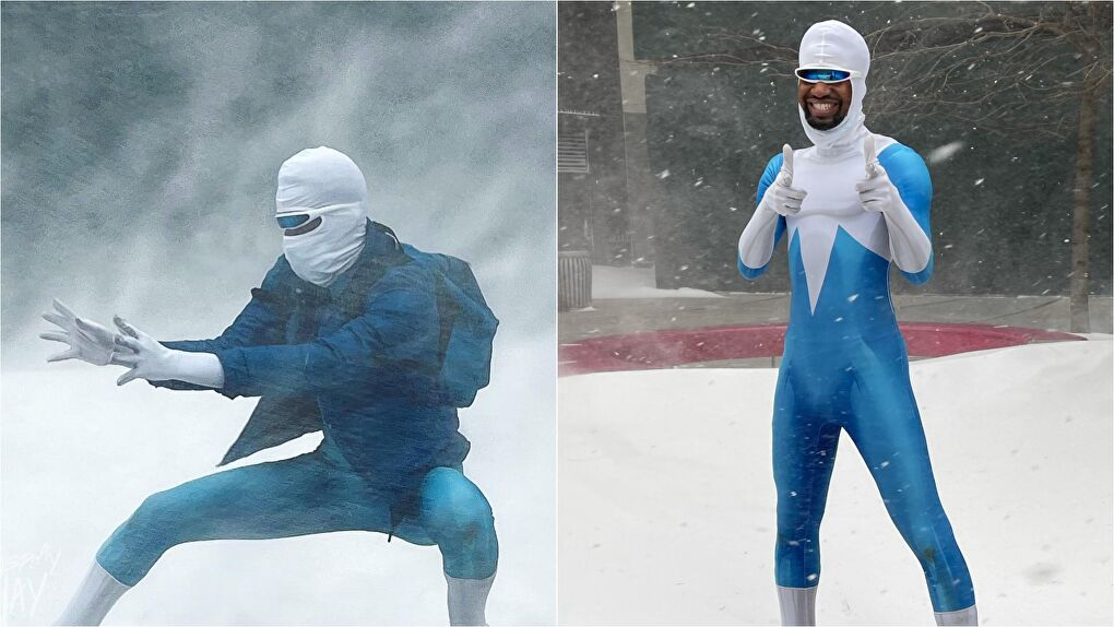 Frozone From The Incredibles Cosplay