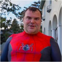 Jack Black as Spider-Man seen in his newest YouTube video.