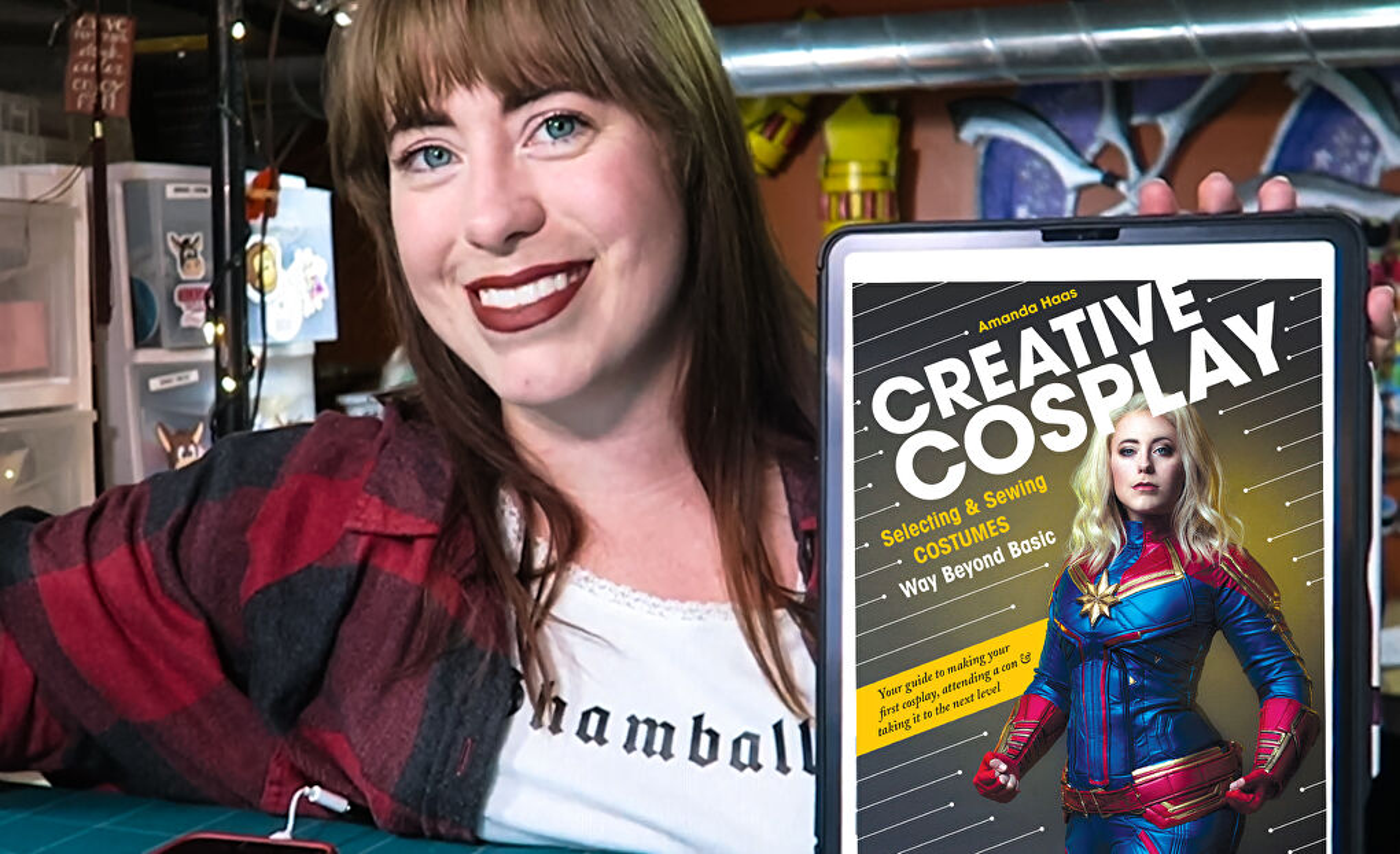 Cosplayer Jedimanda (Amanda Haas) with her new book 'Creative Cosplay'