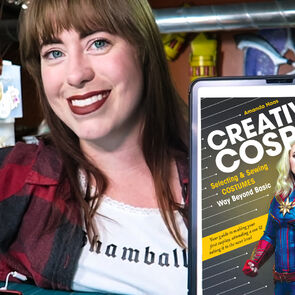 Cosplayer Jedimanda (Amanda Haas) with her new book 'Creative Cosplay'