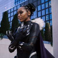 Cosplayer CutiePieSensei poses for photos at New York Comic Con. (Photo courtesy Marvel's 616 on Disney Plus)