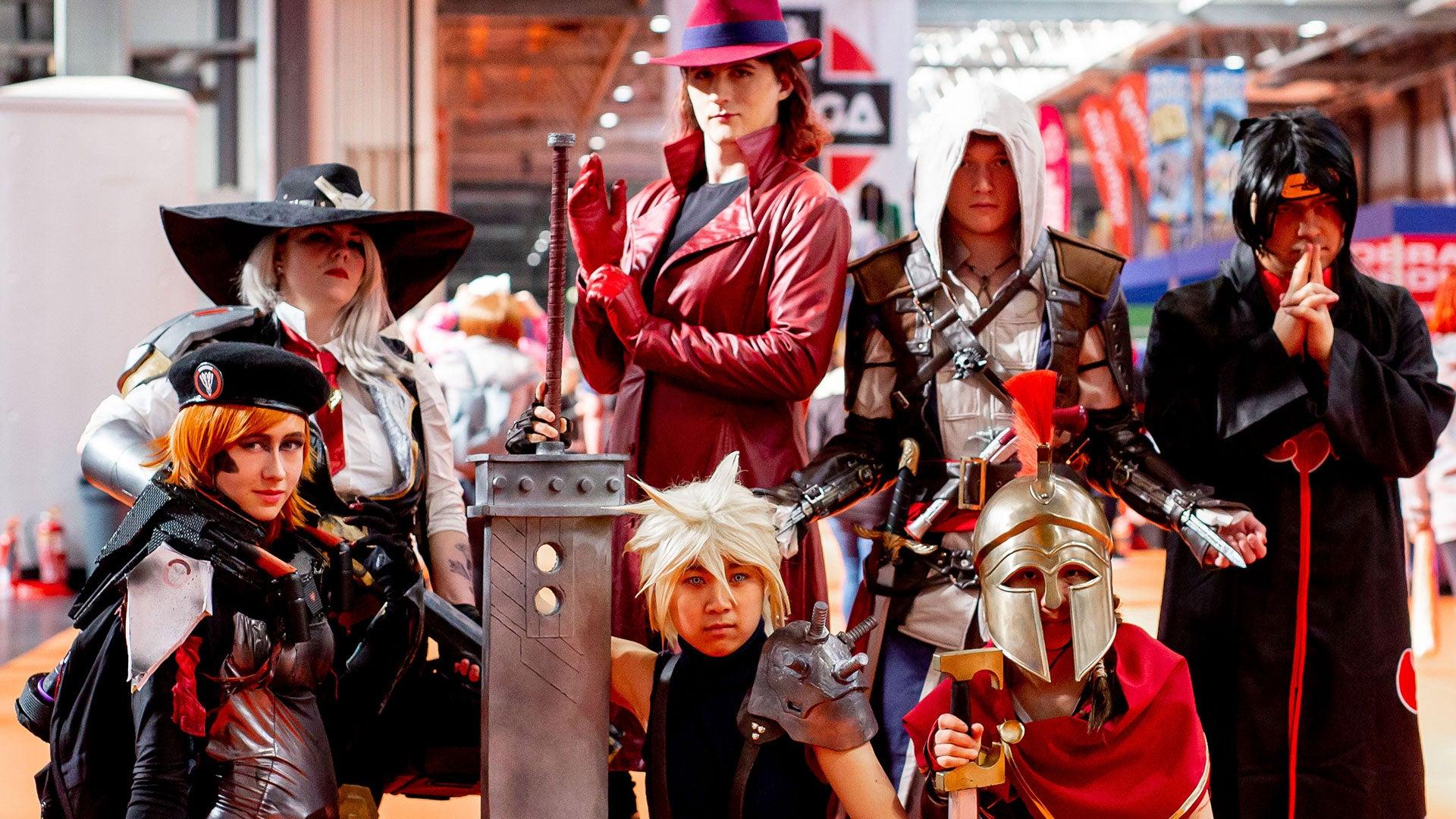 Cosplayers at MCM Birmingham Comic Con
