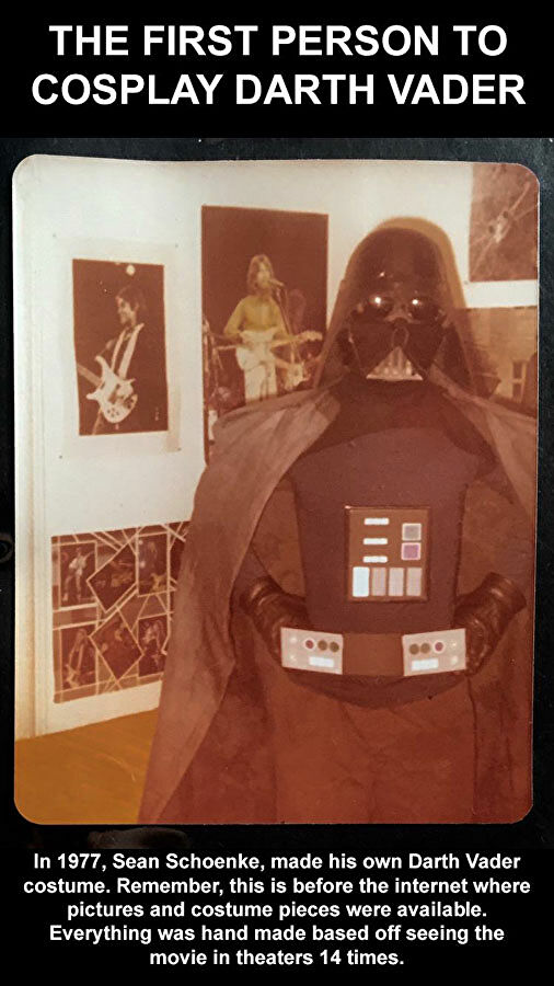 Sean Shoenke in his Darth Vader cosplay from 1977, courtesy of StarWars.com