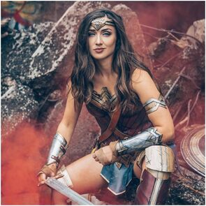 Carma Cosplay in Wonder Woman Cosplay