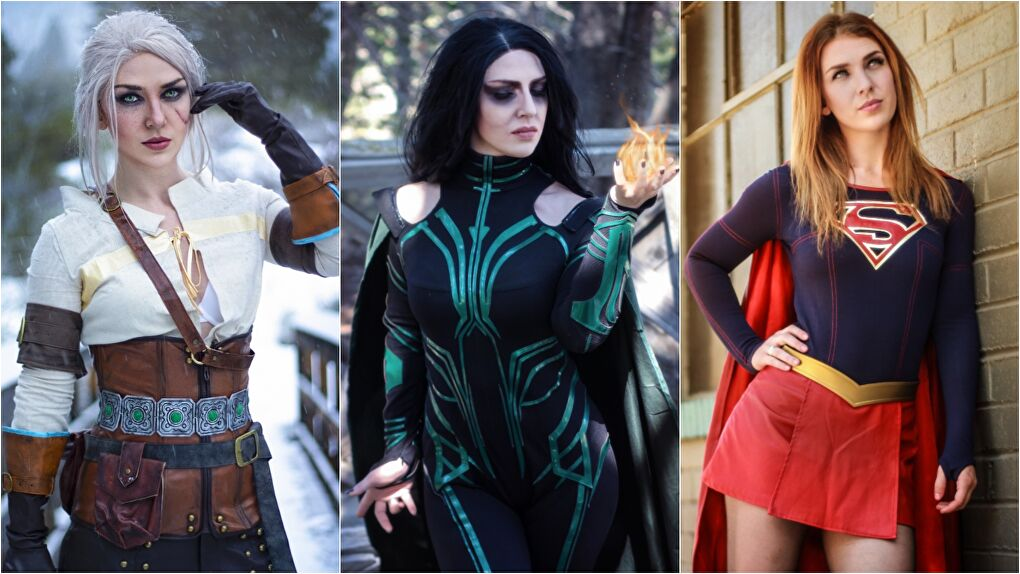 Store-bought cosplays from Miccostumes (Ciri), ProCosplay (Hela, and HerosTime (Supergirl). Photos courtesy Captain Kaycee Cosplay