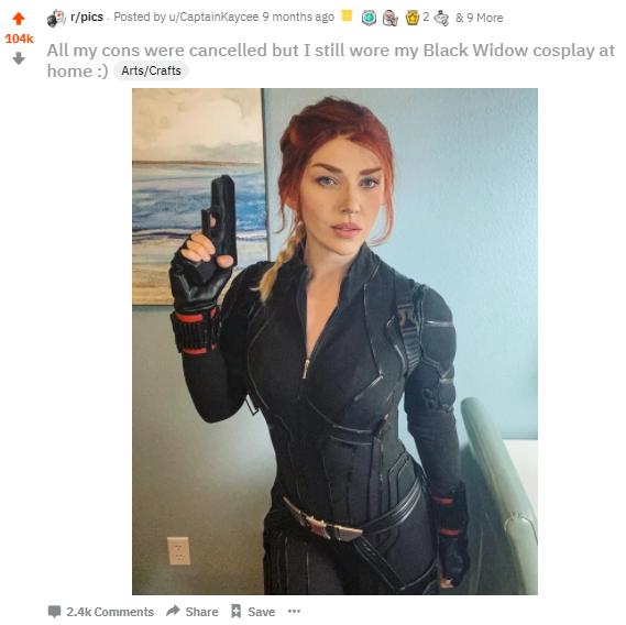 Photo Courtesy Captain Kaycee Cosplay & Black Widow Photo Courtesy Marvel Studios